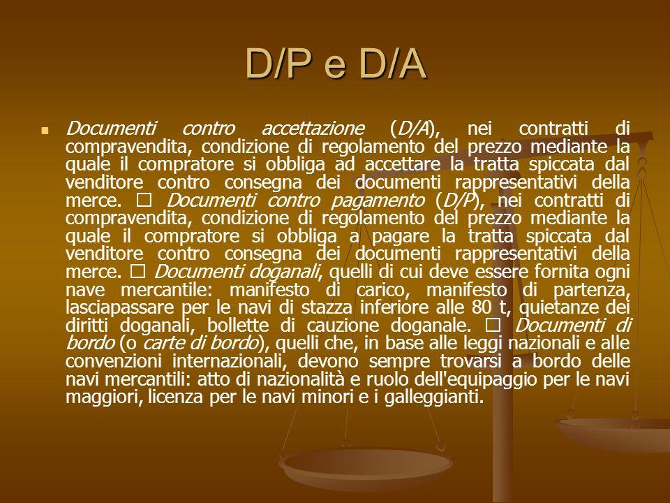 D/P e D/A