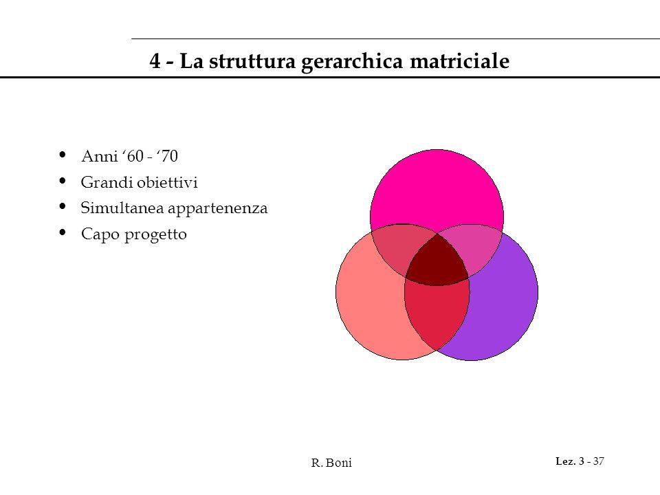 4 - La struttura gerarchica matriciale