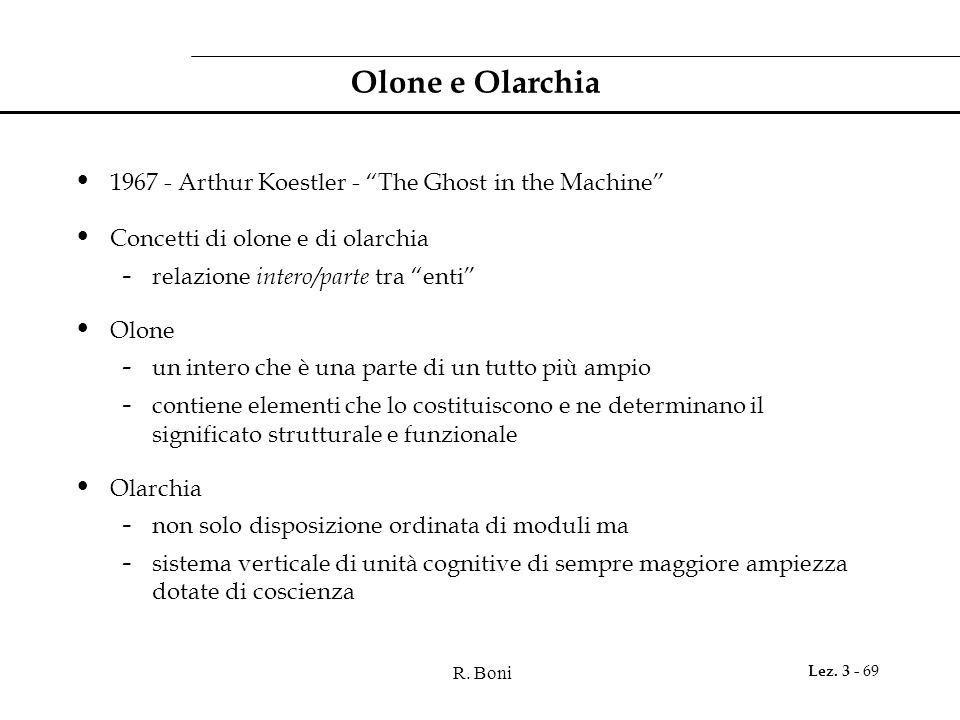 Olone e Olarchia 1967 - Arthur Koestler - The Ghost in the Machine