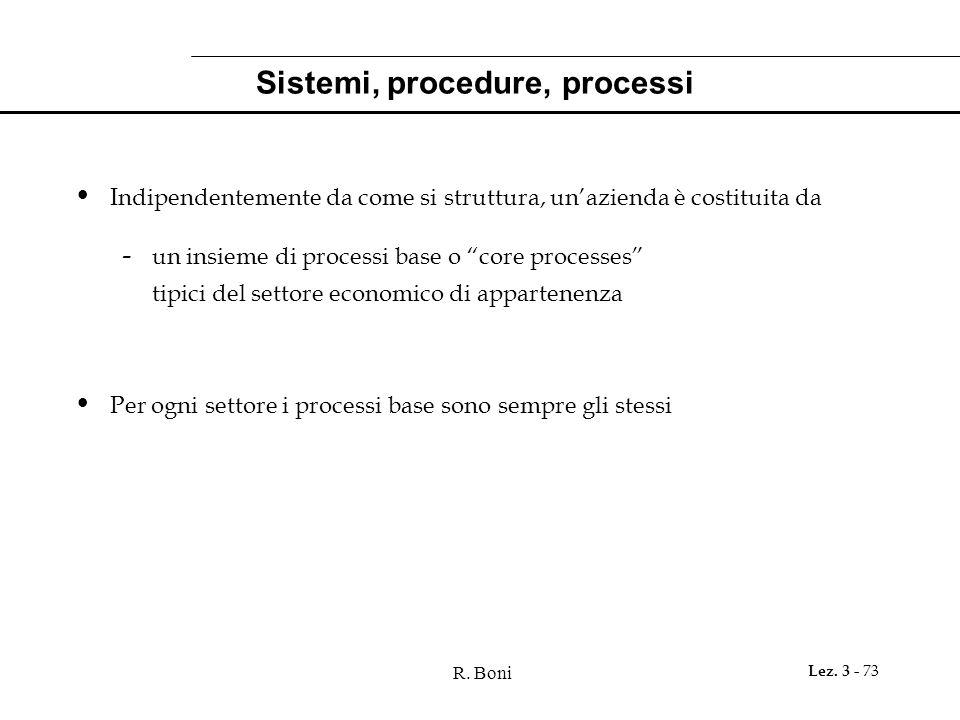 Sistemi, procedure, processi