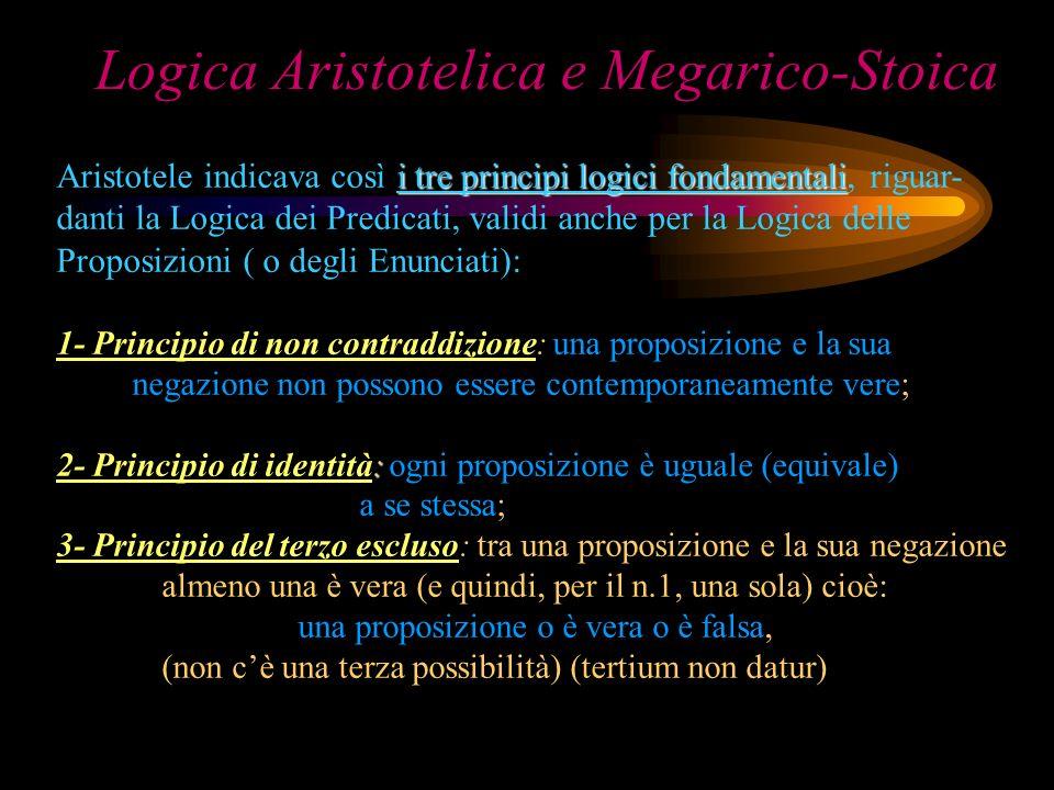 Logica Aristotelica e Megarico-Stoica