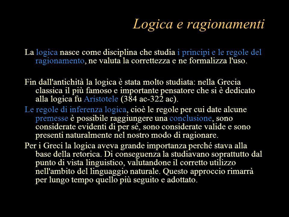 Logica e ragionamenti
