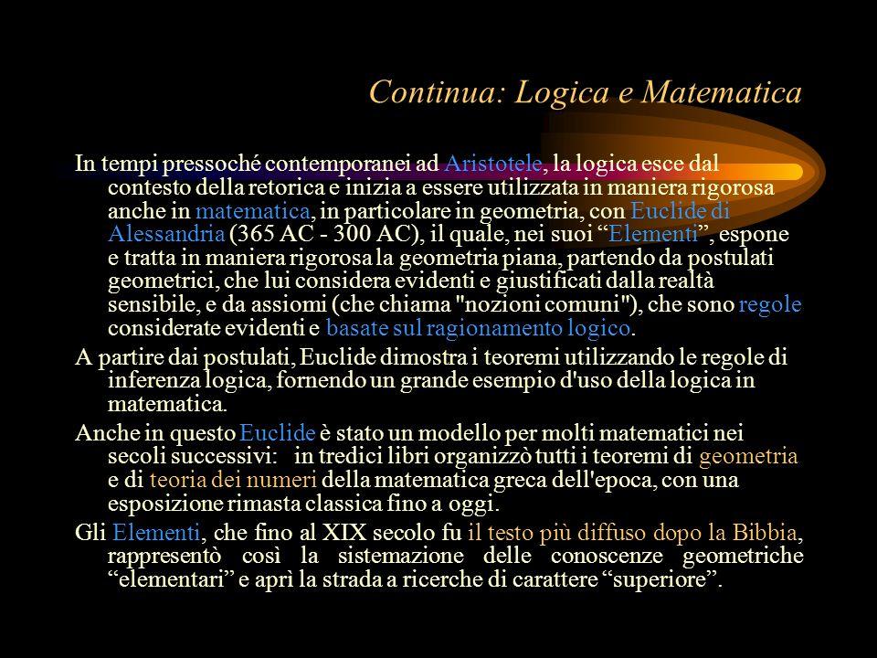 Continua: Logica e Matematica
