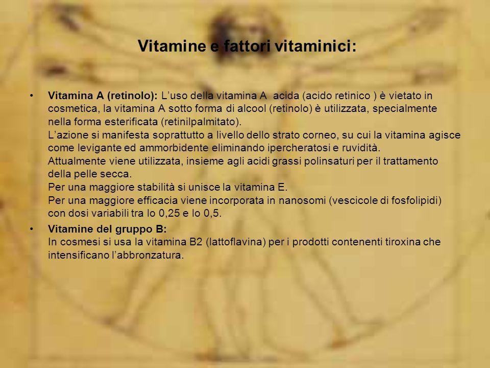 Vitamine e fattori vitaminici: