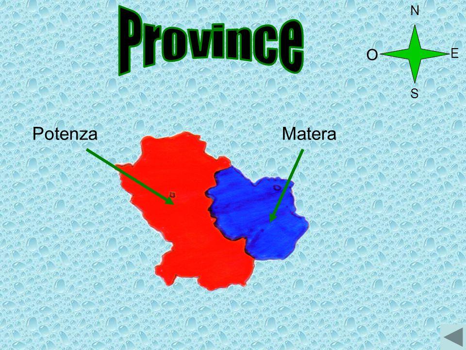 N Province O E S Potenza Matera