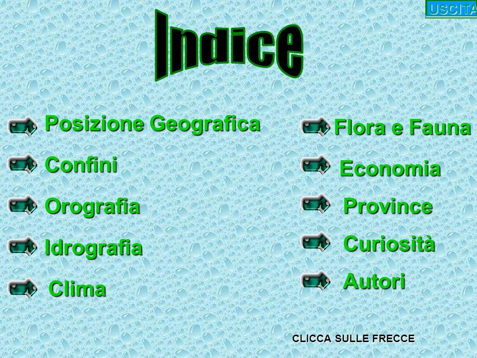 Indice Posizione Geografica Flora e Fauna Confini Economia Orografia