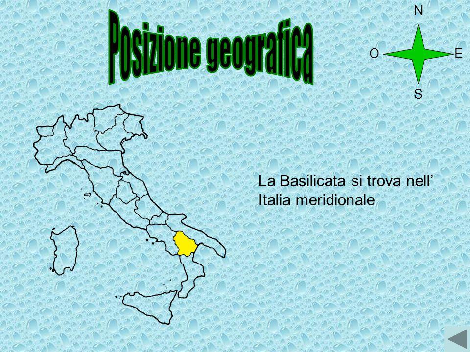 Posizione geografica La Basilicata si trova nell' Italia meridionale N