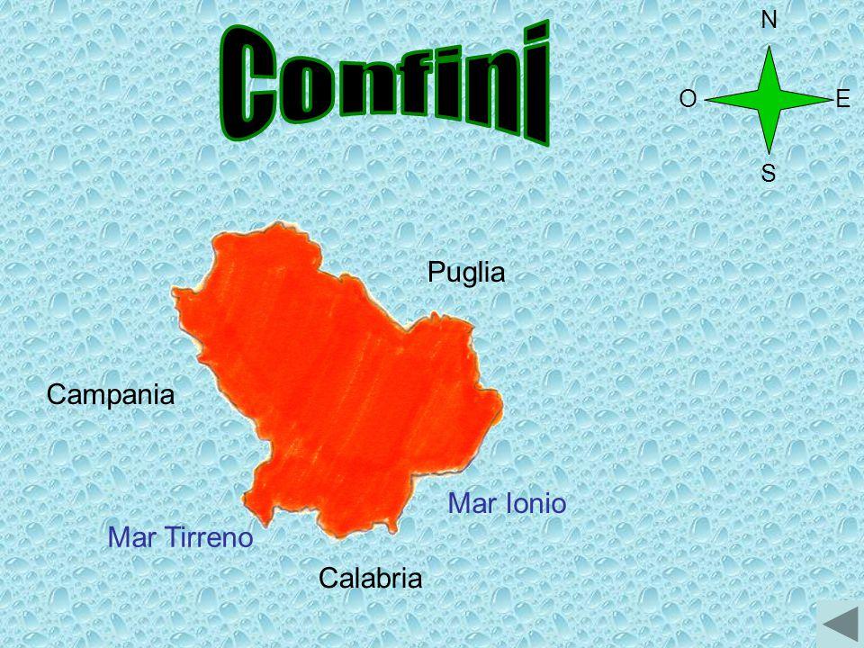 N Confini O E S Puglia Campania Mar Ionio Mar Tirreno Calabria