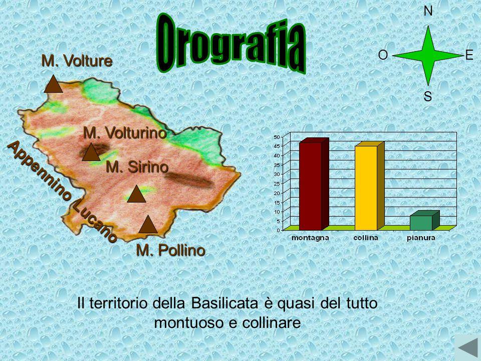 Il territorio della Basilicata è quasi del tutto montuoso e collinare