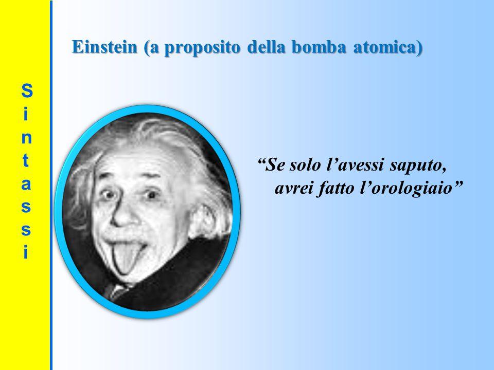 Einstein (a proposito della bomba atomica)