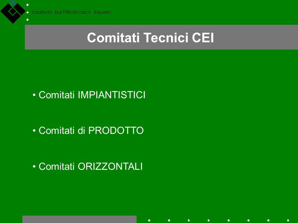 Comitati Tecnici CEI Comitati IMPIANTISTICI Comitati di PRODOTTO