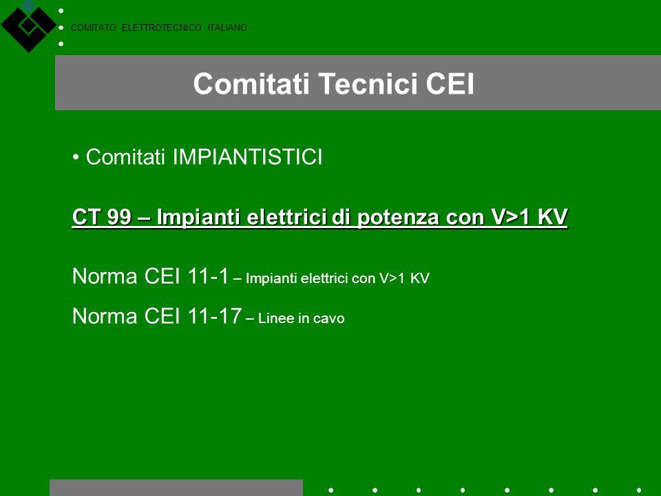 Comitati Tecnici CEI Comitati IMPIANTISTICI