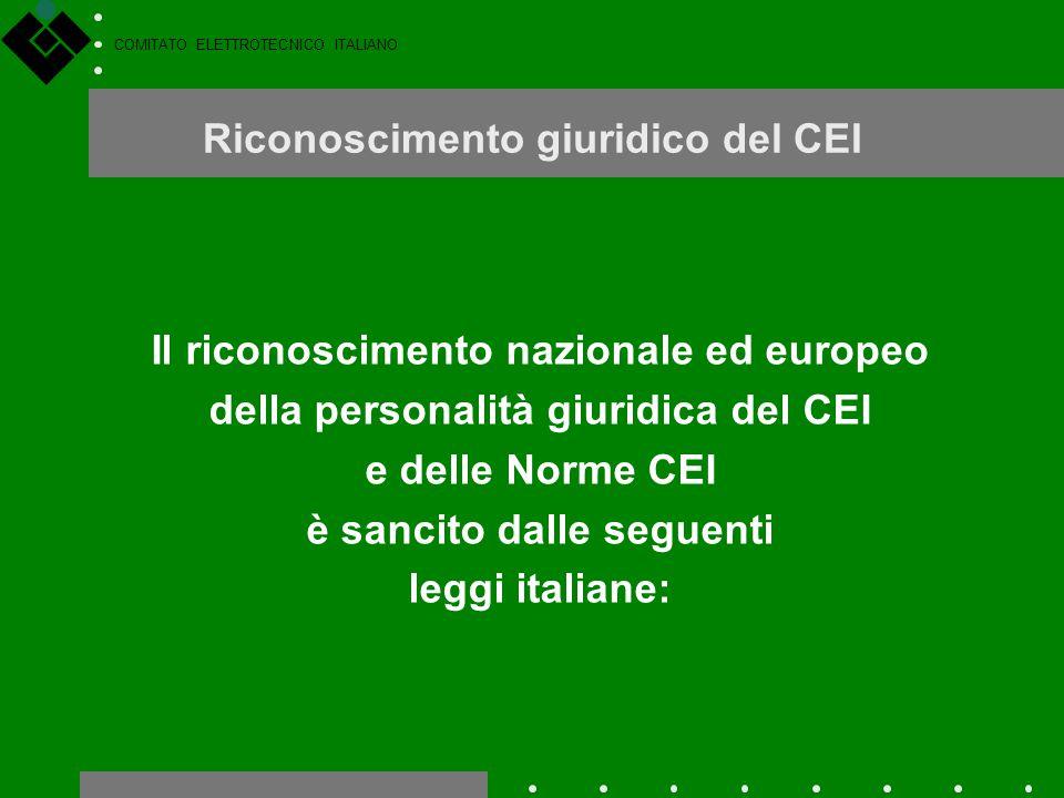 Riconoscimento giuridico del CEI