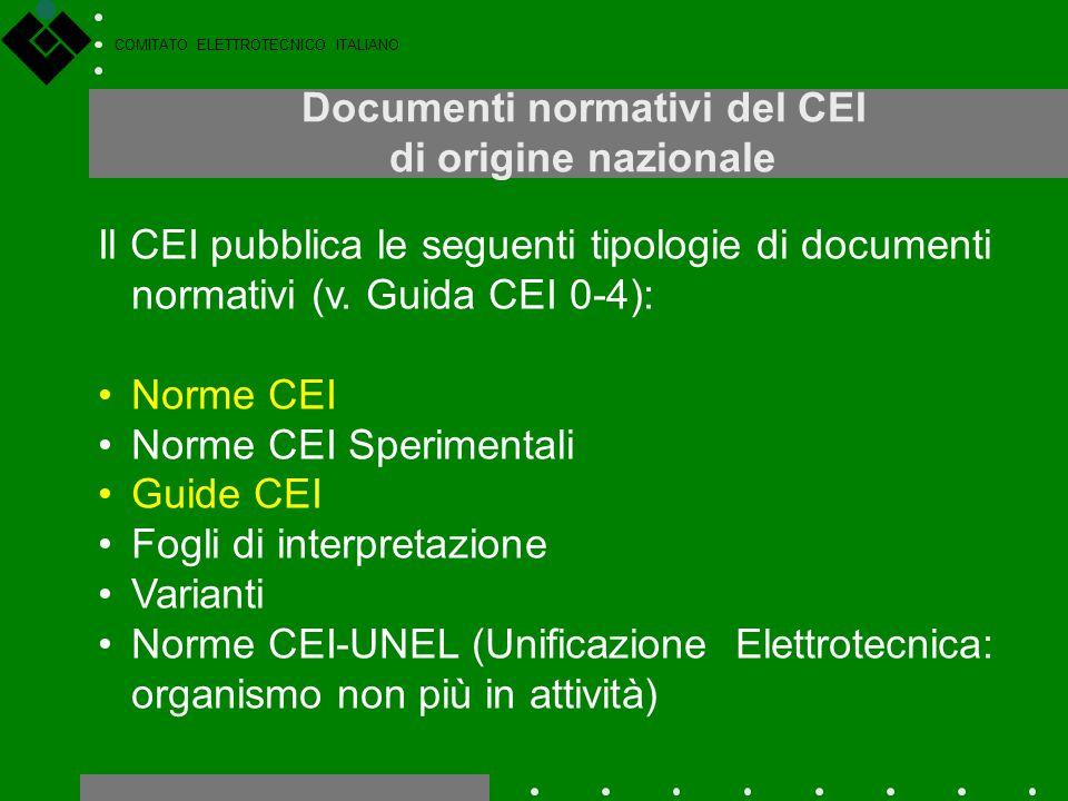 Documenti normativi del CEI di origine nazionale