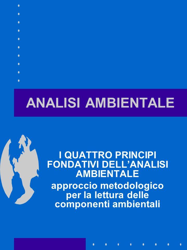 ANALISI AMBIENTALE I QUATTRO PRINCIPI FONDATIVI DELL'ANALISI AMBIENTALE.