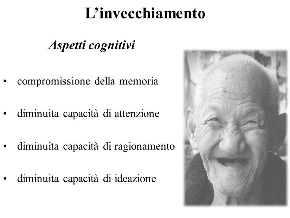 L'invecchiamento Aspetti cognitivi compromissione della memoria