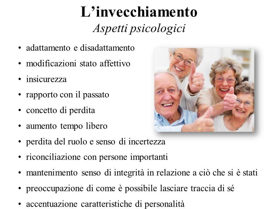 L'invecchiamento Aspetti psicologici