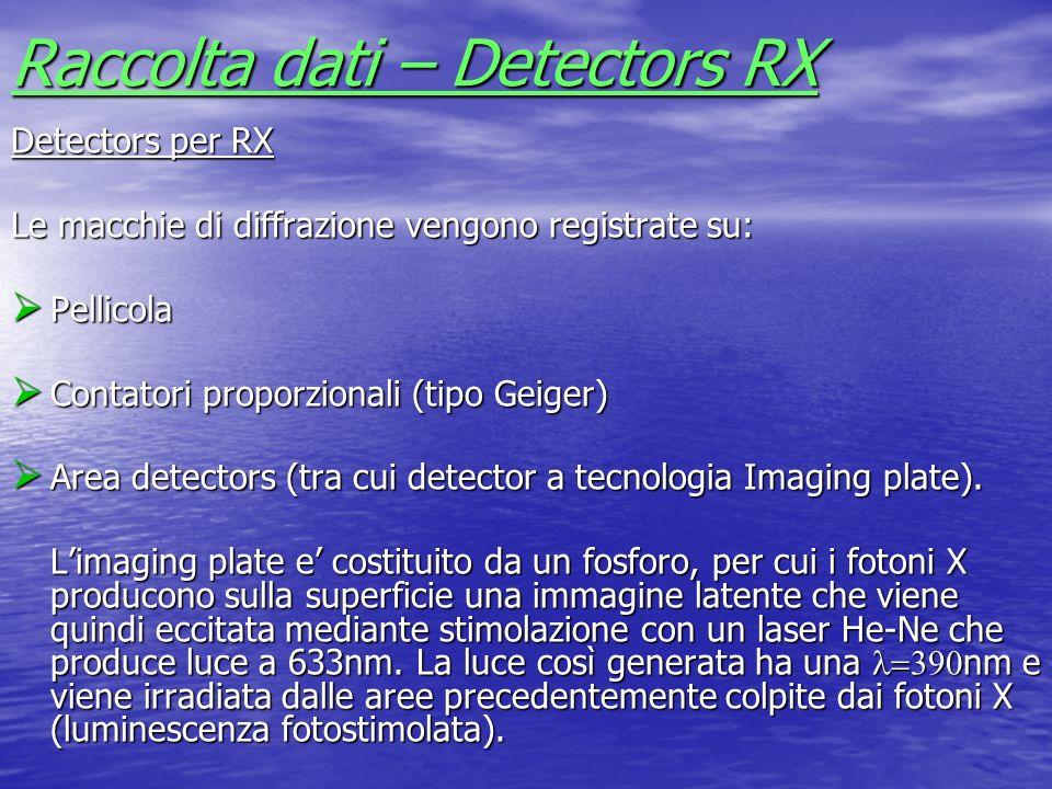 Raccolta dati – Detectors RX