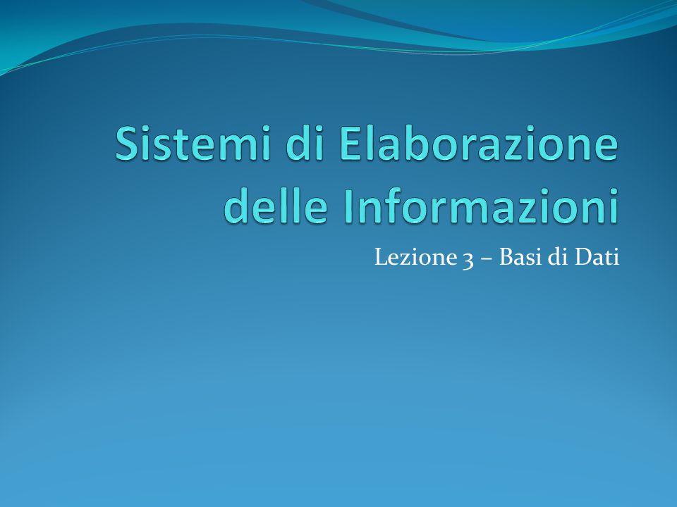 Sistemi di Elaborazione delle Informazioni
