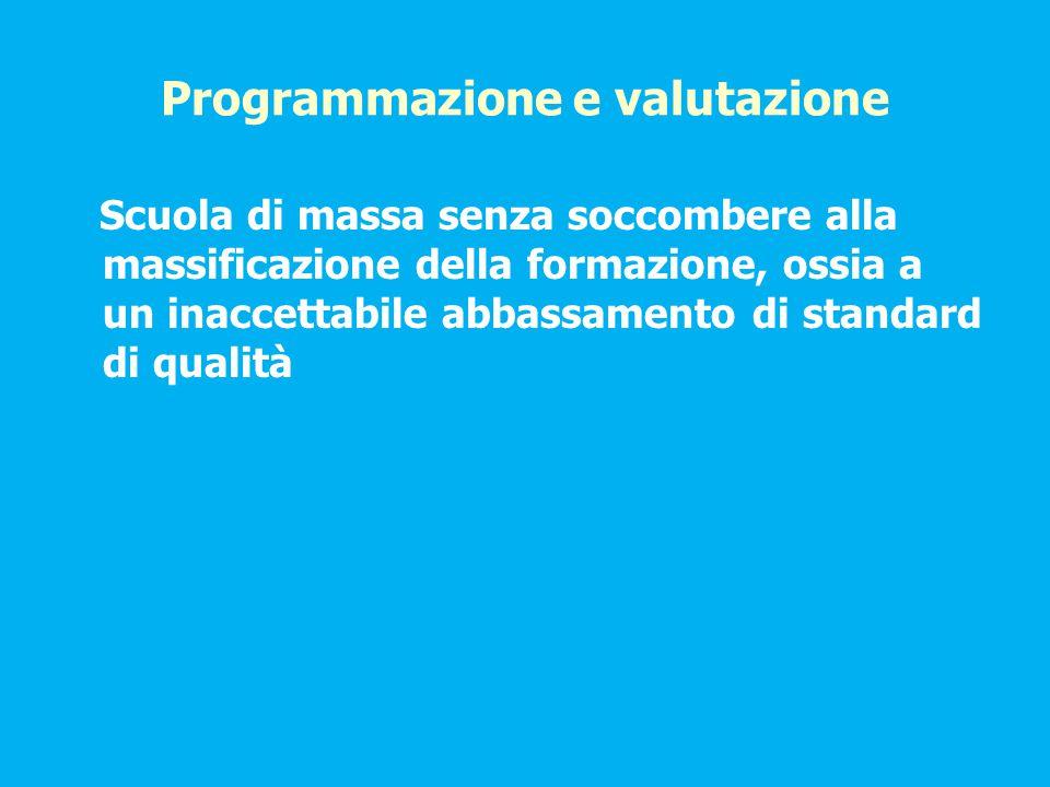 Programmazione e valutazione