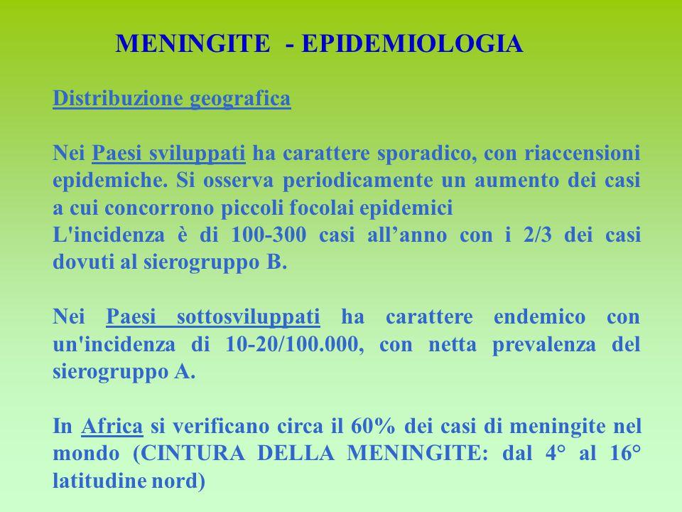 MENINGITE - EPIDEMIOLOGIA