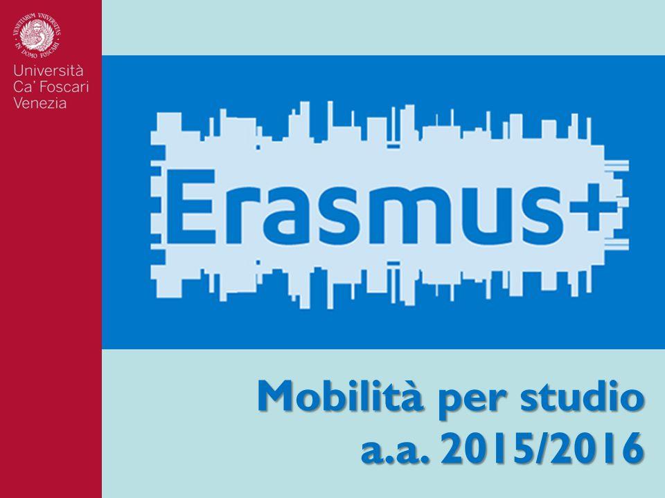 Mobilità per studio a.a. 2015/2016