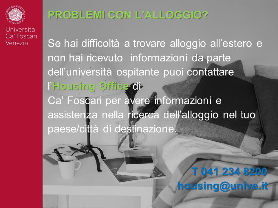 PROBLEMI CON L'ALLOGGIO
