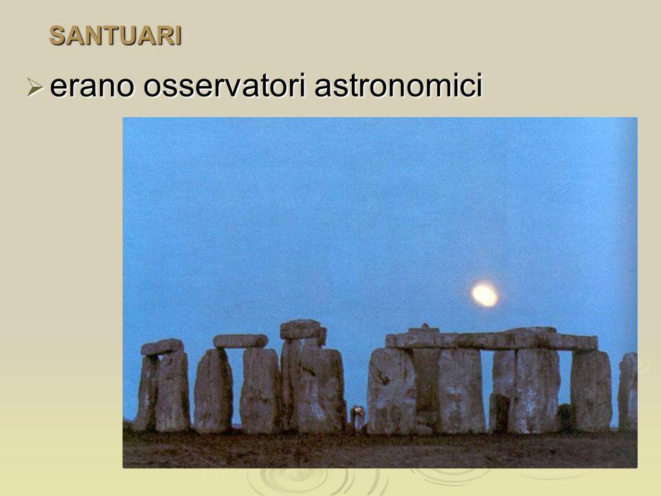 erano osservatori astronomici