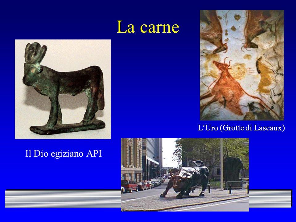 La carne L'Uro (Grotte di Lascaux) Il Dio egiziano API