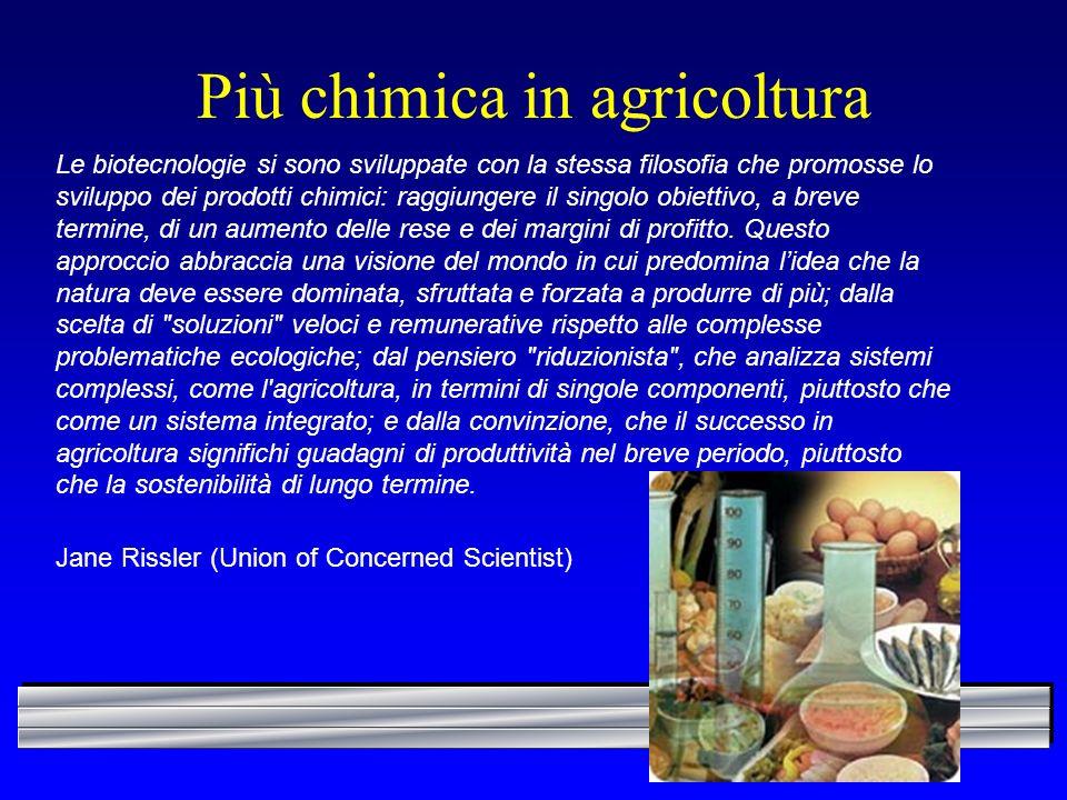 Più chimica in agricoltura