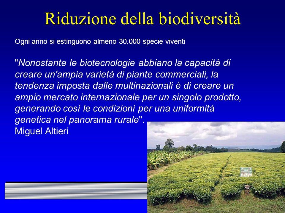 Riduzione della biodiversità