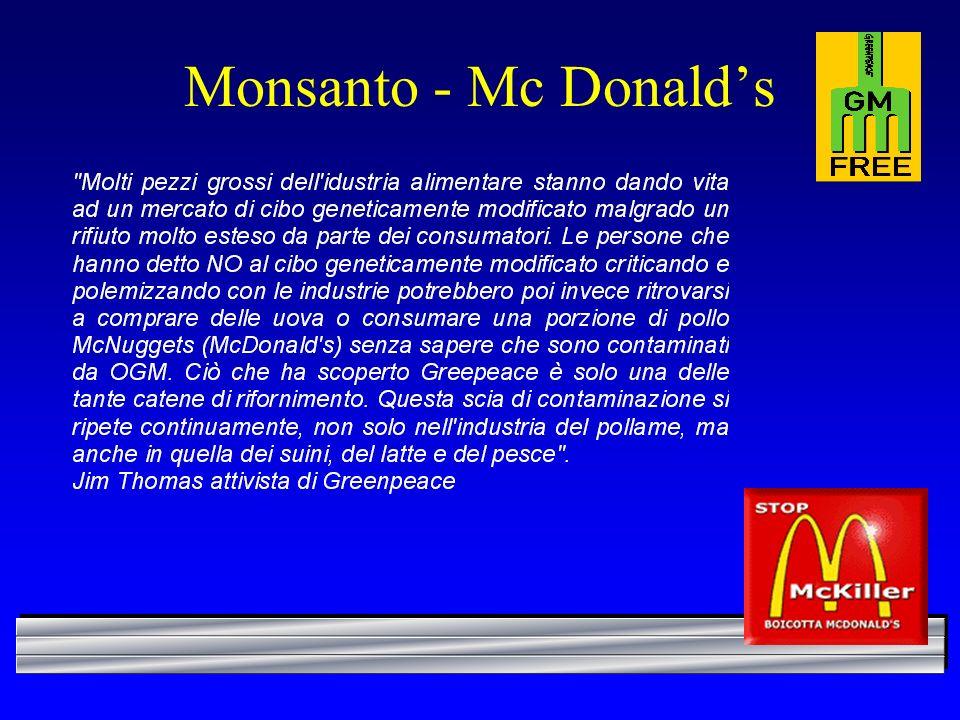 Monsanto - Mc Donald's