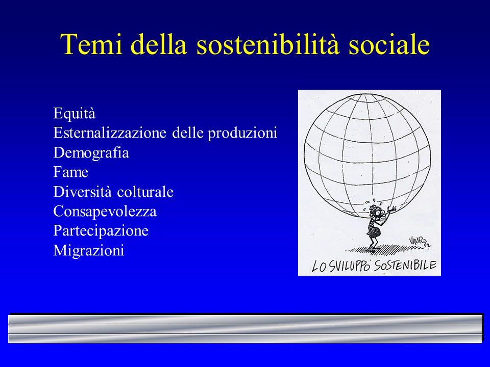 Temi della sostenibilità sociale