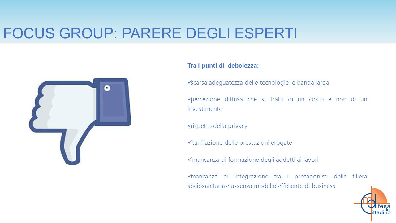 FOCUS GROUP: PARERE DEGLI ESPERTI