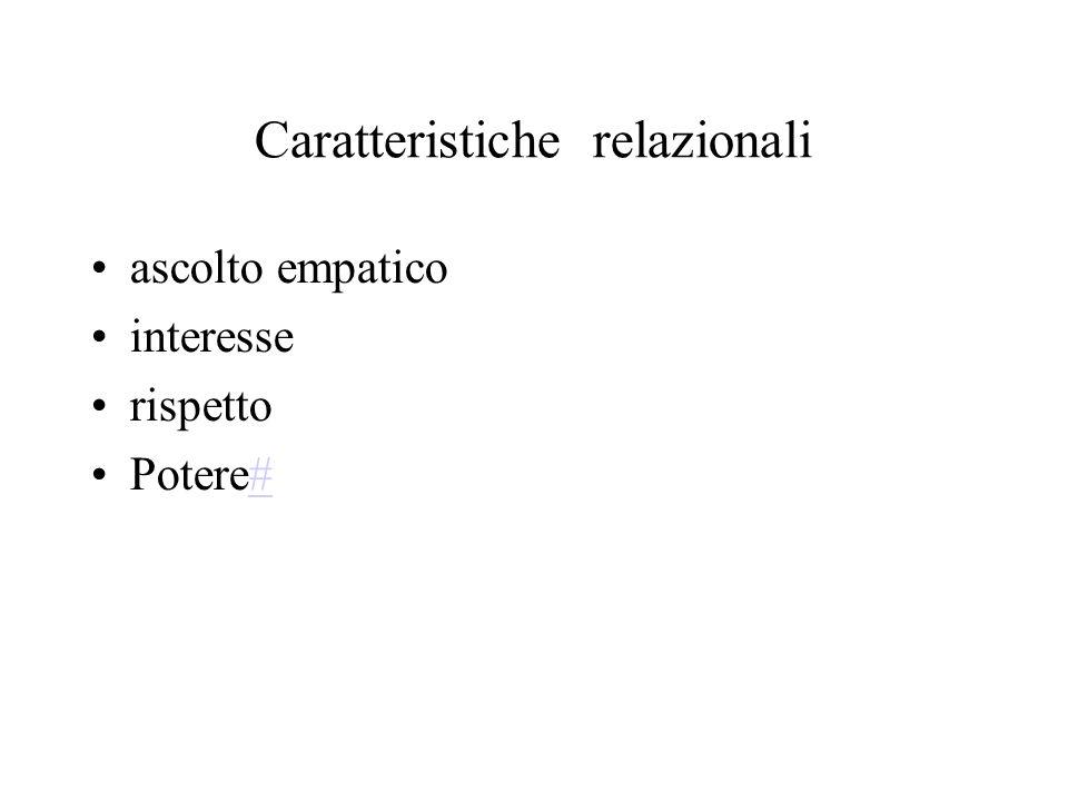 Caratteristiche relazionali