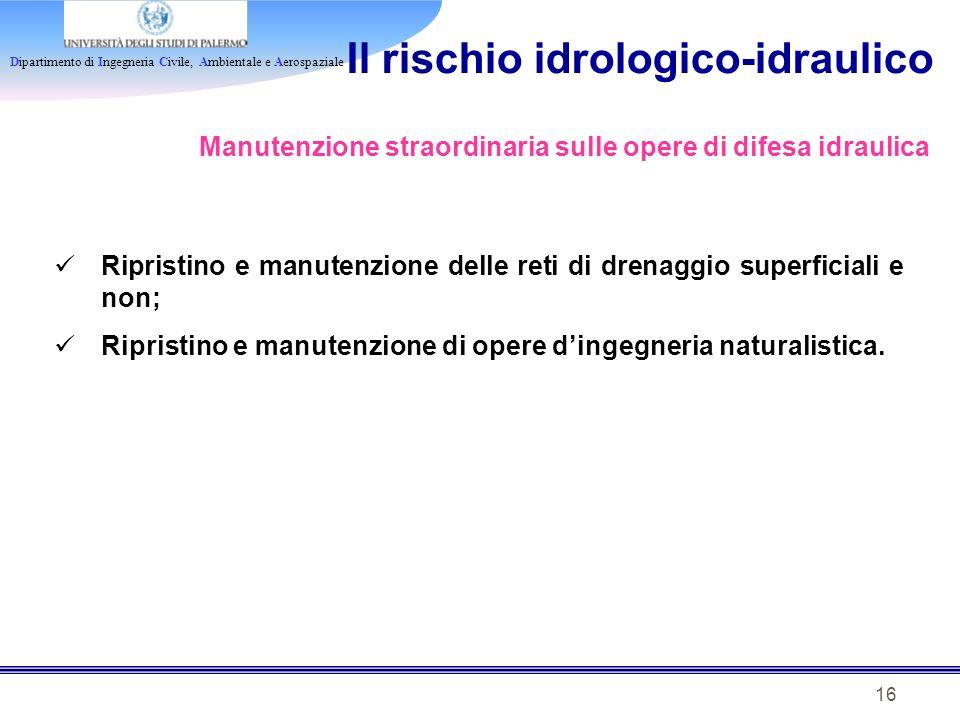 Il rischio idrologico-idraulico