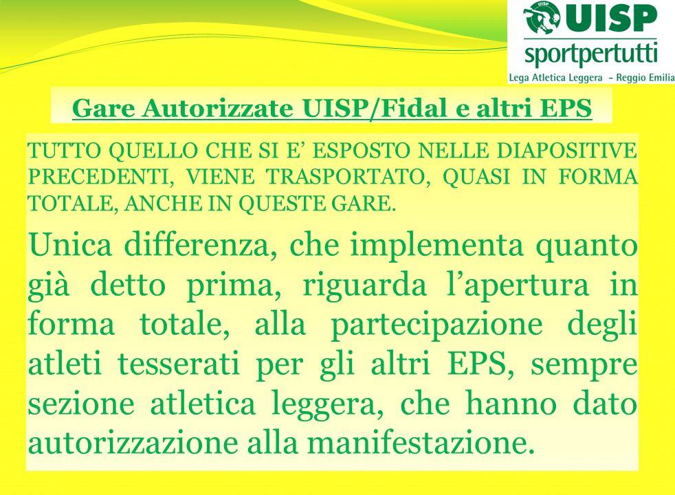 Gare Autorizzate UISP/Fidal e altri EPS