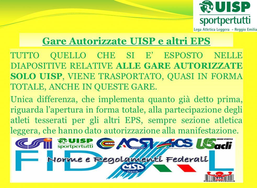 Gare Autorizzate UISP e altri EPS