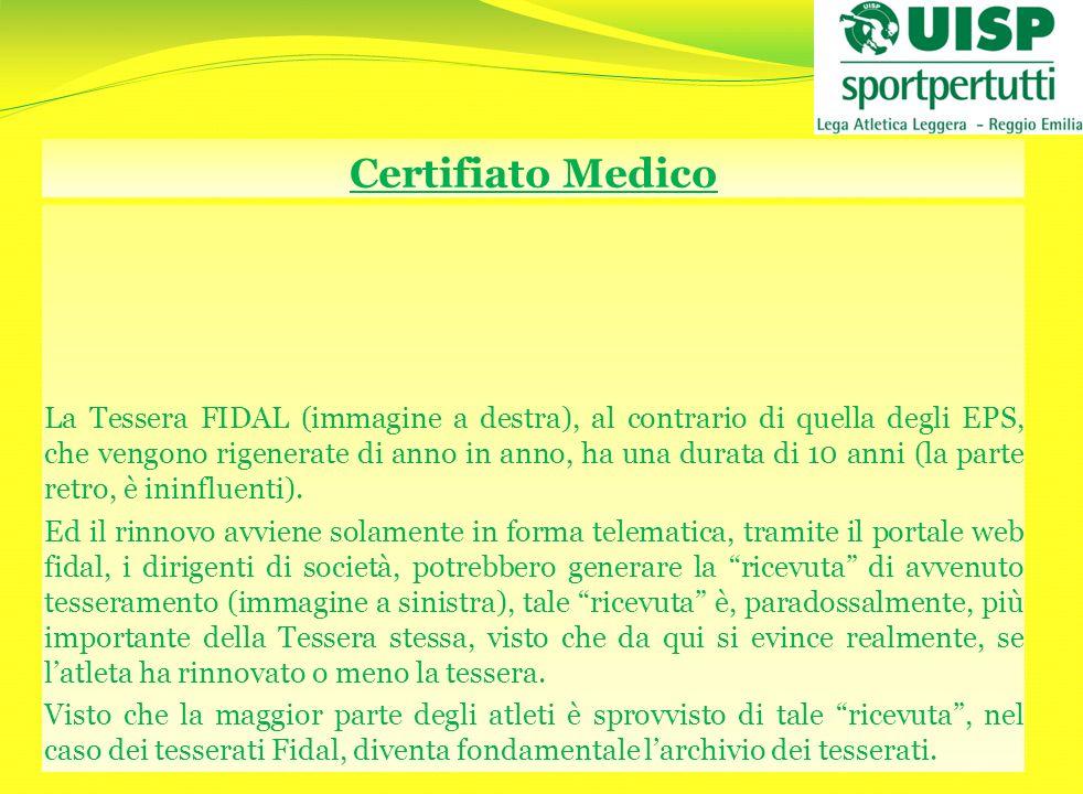 Certifiato Medico