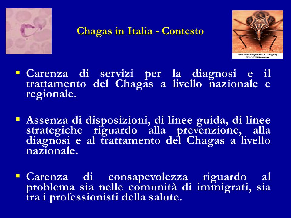 Chagas in Italia - Contesto