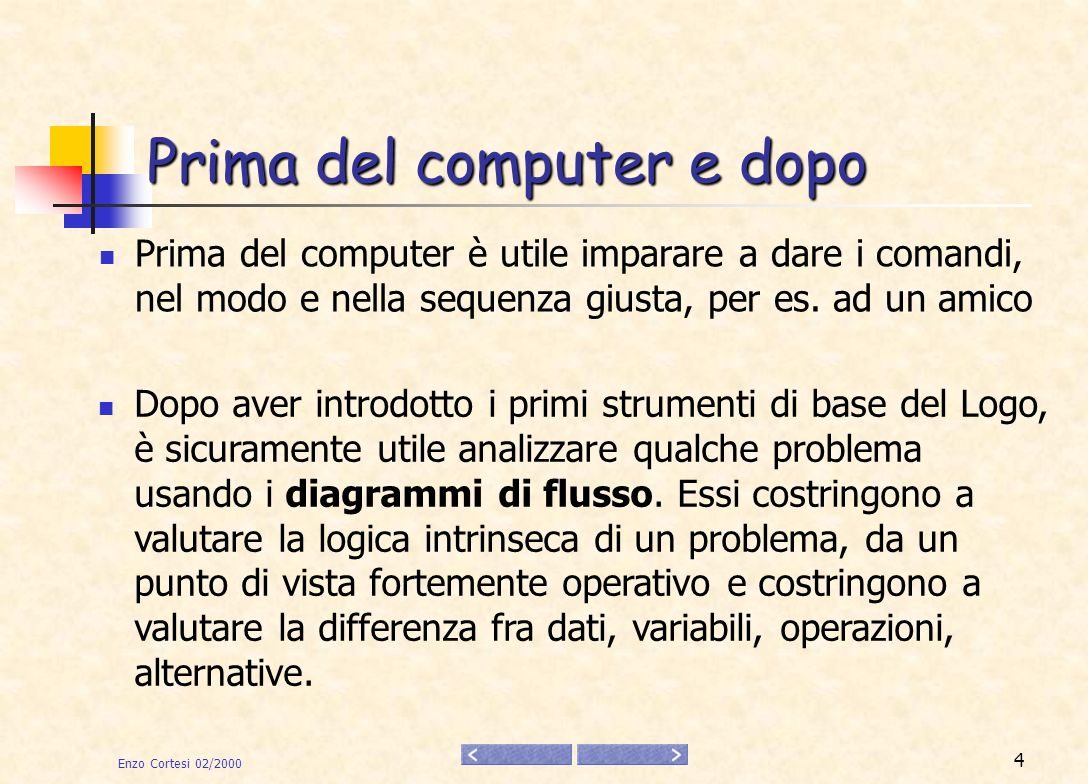 Prima del computer e dopo