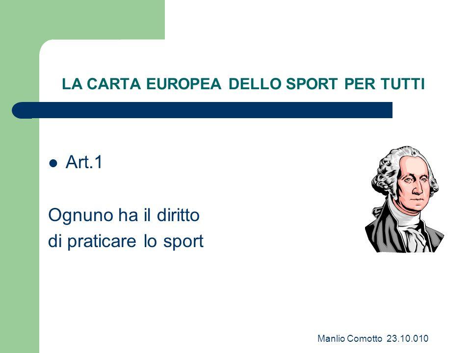 LA CARTA EUROPEA DELLO SPORT PER TUTTI