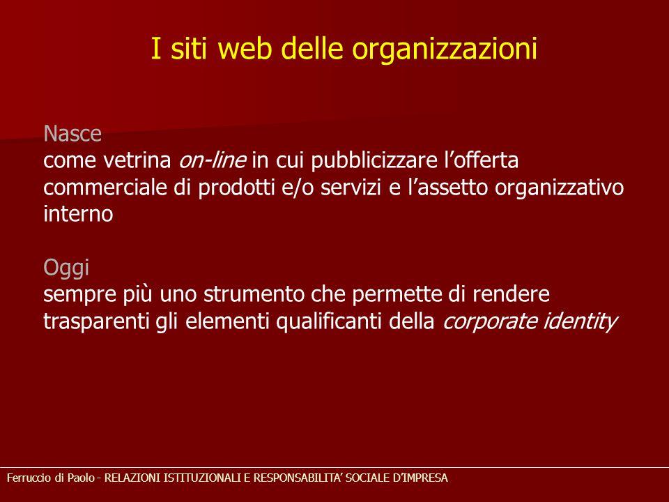 I siti web delle organizzazioni