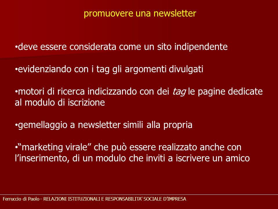 promuovere una newsletter