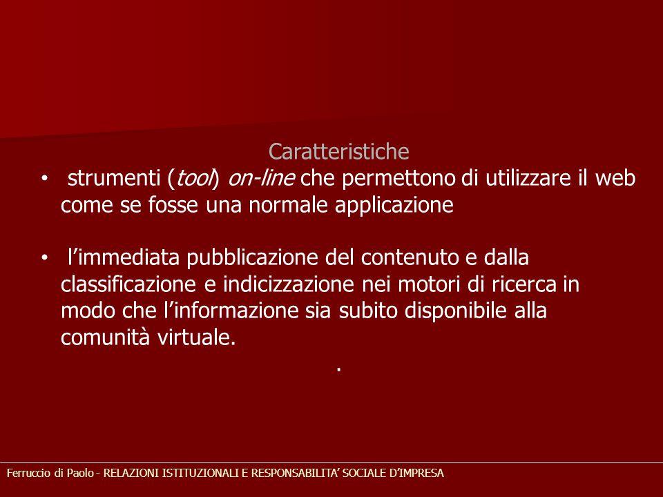 Caratteristiche strumenti (tool) on-line che permettono di utilizzare il web come se fosse una normale applicazione.