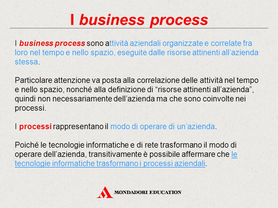 I business process
