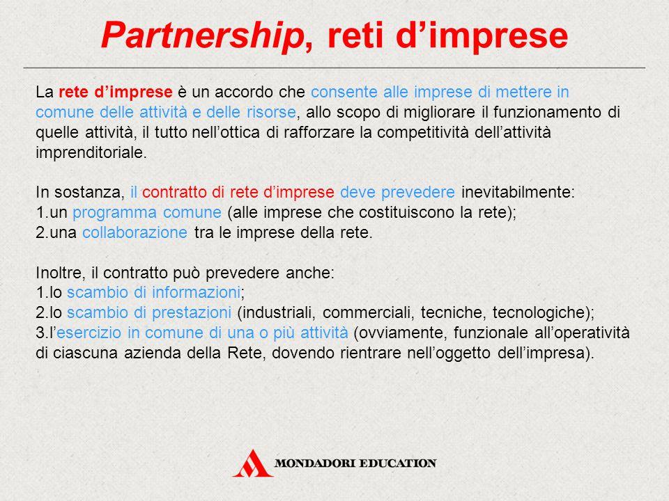 Partnership, reti d'imprese