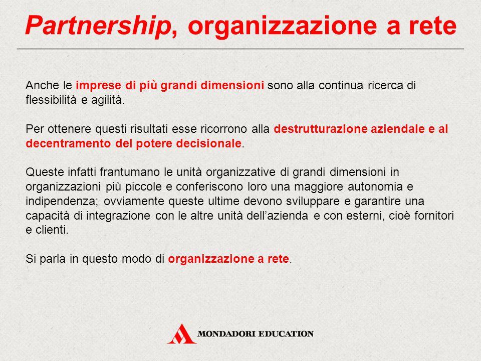 Partnership, organizzazione a rete
