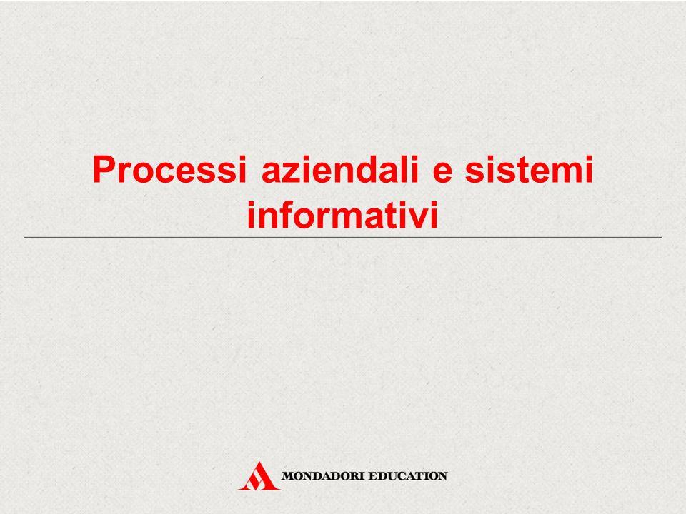 Processi aziendali e sistemi informativi