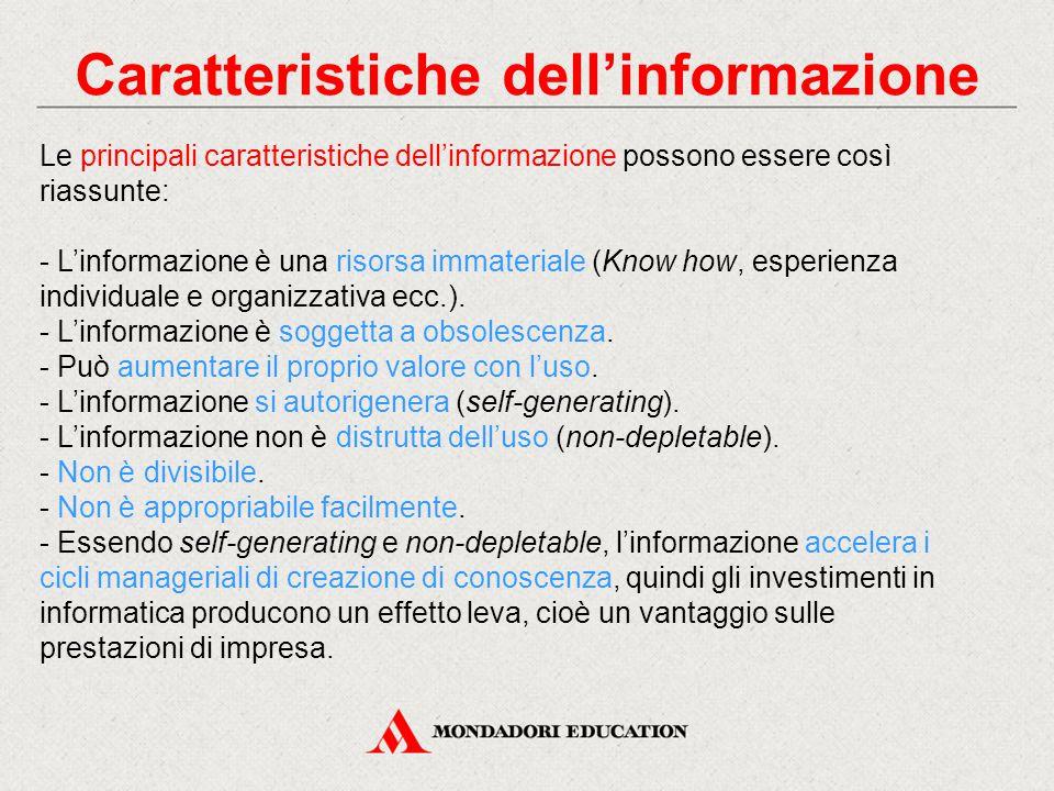 Caratteristiche dell'informazione